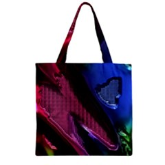 Colorful Broken Metal Zipper Grocery Tote Bags