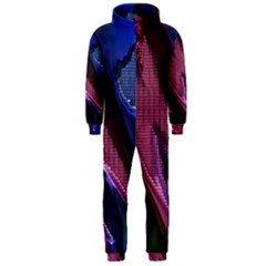 Colorful Broken Metal Hooded Jumpsuit (men)