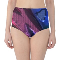 Colorful Broken Metal High-Waist Bikini Bottoms