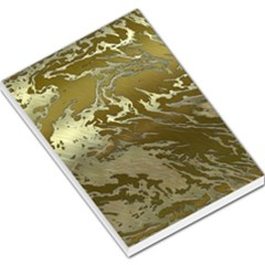 Metal Art Swirl Golden Large Memo Pads