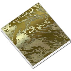 Metal Art Swirl Golden Small Memo Pads