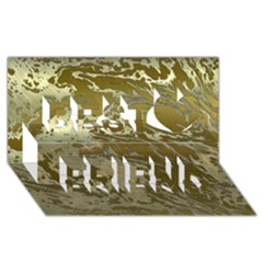 Metal Art Swirl Golden Best Friends 3d Greeting Card (8x4)