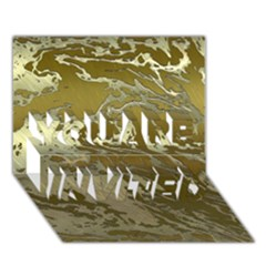 Metal Art Swirl Golden You Are Invited 3d Greeting Card (7x5)