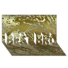 Metal Art Swirl Golden BEST BRO 3D Greeting Card (8x4)