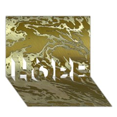 Metal Art Swirl Golden Hope 3d Greeting Card (7x5)
