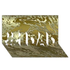 Metal Art Swirl Golden #1 DAD 3D Greeting Card (8x4)