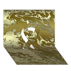 Metal Art Swirl Golden Ribbon 3D Greeting Card (7x5)
