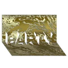 Metal Art Swirl Golden PARTY 3D Greeting Card (8x4)