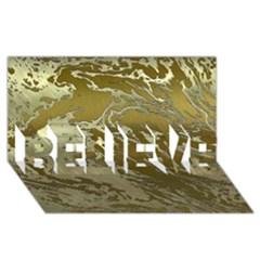 Metal Art Swirl Golden Believe 3d Greeting Card (8x4)