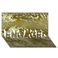 Metal Art Swirl Golden ENGAGED 3D Greeting Card (8x4)