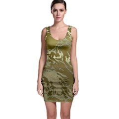 Metal Art Swirl Golden Bodycon Dresses
