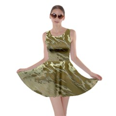 Metal Art Swirl Golden Skater Dresses