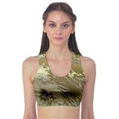 Metal Art Swirl Golden Sports Bra