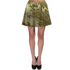 Metal Art Swirl Golden Skater Skirts