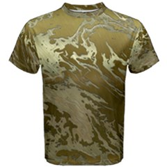 Metal Art Swirl Golden Men s Cotton Tees