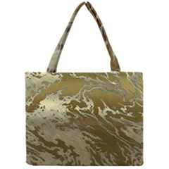 Metal Art Swirl Golden Tiny Tote Bags