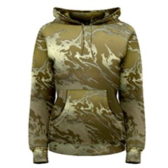 Metal Art Swirl Golden Women s Pullover Hoodies