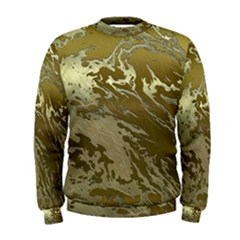 Metal Art Swirl Golden Men s Sweatshirts