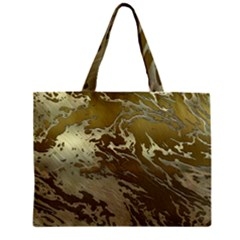 Metal Art Swirl Golden Zipper Tiny Tote Bags