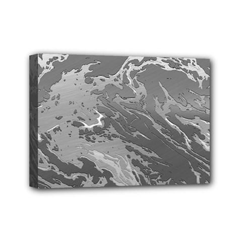 Metal Art Swirl Silver Mini Canvas 7  X 5