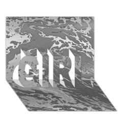 Metal Art Swirl Silver Girl 3d Greeting Card (7x5)