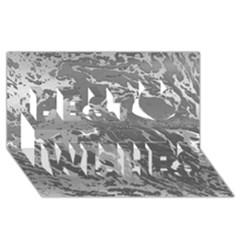 Metal Art Swirl Silver Best Wish 3D Greeting Card (8x4)