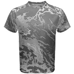 Metal Art Swirl Silver Men s Cotton Tees