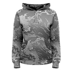 Metal Art Swirl Silver Women s Pullover Hoodies