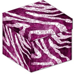 Purple Zebra Print Bling Pattern  Storage Stool 12