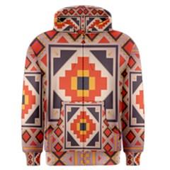 Rustic Abstract Design Men s Zipper Hoodie