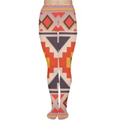 Rustic Abstract Design Tights