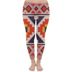 Rustic Abstract Design Winter Leggings