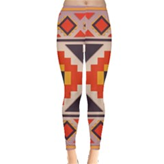 Rustic Abstract Design Leggings