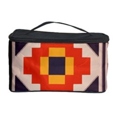 Rustic Abstract Design Cosmetic Storage Case