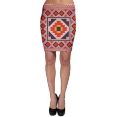 Rustic abstract design Bodycon Skirt