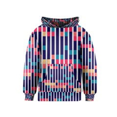 Stripes and rectangles pattern Kid s Pullover Hoodie