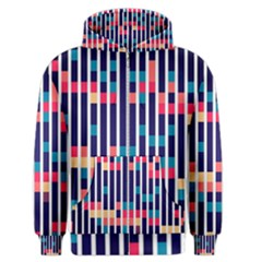 Stripes And Rectangles Pattern Men s Zipper Hoodie