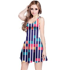 Stripes and rectangles pattern Sleeveless Dress