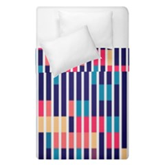 Stripes And Rectangles Pattern  Duvet Cover (single Size)