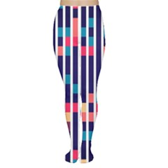 Stripes and rectangles pattern Tights