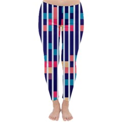 Stripes and rectangles pattern Winter Leggings