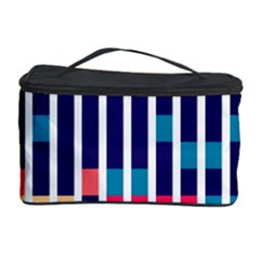 Stripes and rectangles pattern Cosmetic Storage Case