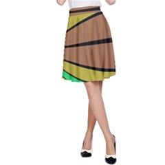 Symmetric waves A-line Skirt