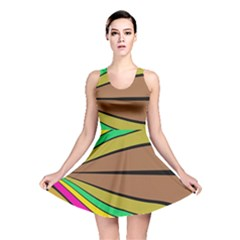 Symmetric waves Reversible Skater Dress