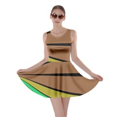 Symmetric Waves Skater Dress