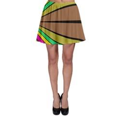 Symmetric waves Skater Skirt