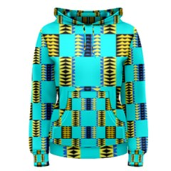 Triangles in rectangles pattern Women s Pullover Hoodie