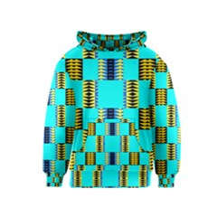 Triangles in rectangles pattern Kid s Pullover Hoodie