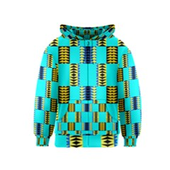 Triangles in rectangles pattern Kids Zipper Hoodie