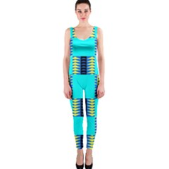 Triangles in rectangles pattern OnePiece Catsuit